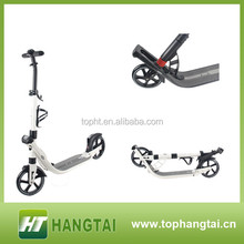 all aluminum adjustable handle bars two big wheels scooter for adult