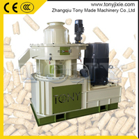 (J) Beech Tree Wood Timber Fuel Biomass Sawdust Pelletizer / Roller Rotating Pellet Machine