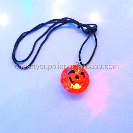 Pumpkin Lighted Pendant Necklace