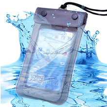 wholesale customized pvc phone waterproof diving bag case pouch with lanyard