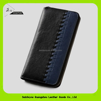 16908 Wholesale alibaba zipper classic mens rfid wallet genuine leather