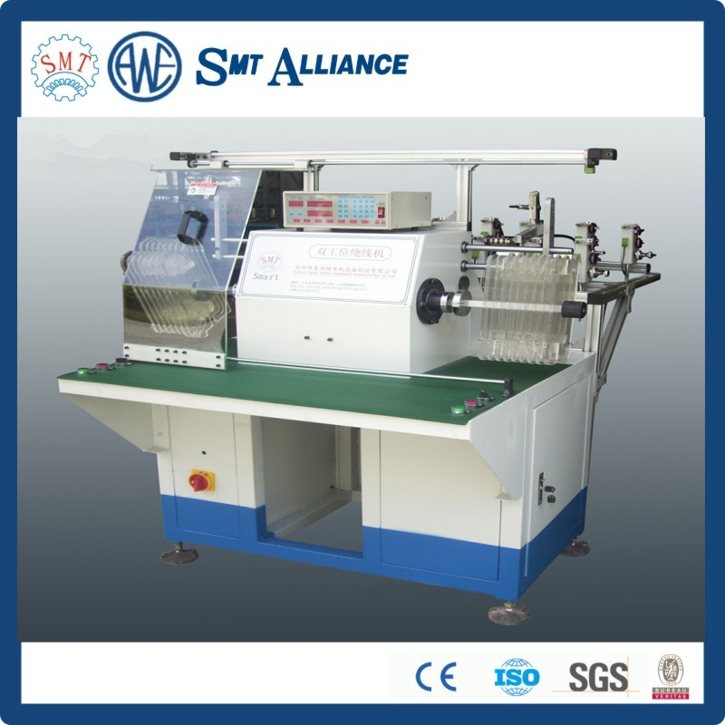 Multiple tapped winding machine / slot hopping winding machine