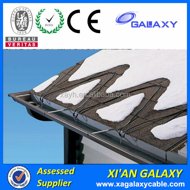 Alloy Resistance Wire Coils XLPE Insulation PVC Jacket Heating Cable 18.5w Twin Conductor Heating Cable