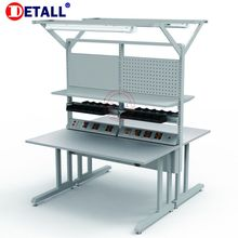 Detall lab work bench with electronic socket for 2 person
