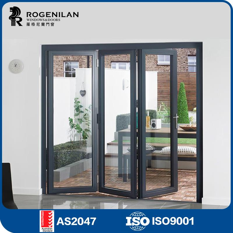 Rogenilan 75 As2047 Australian Standard Aluminium Exterior Folding Glass Patio Doors Prices - Buy Folding Glass Doors PricesFolding Patio Doors Prices ...