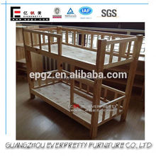 Cheap Price Solid Pine Wood Bunk Bed, Baby Hospital Bed For Sale