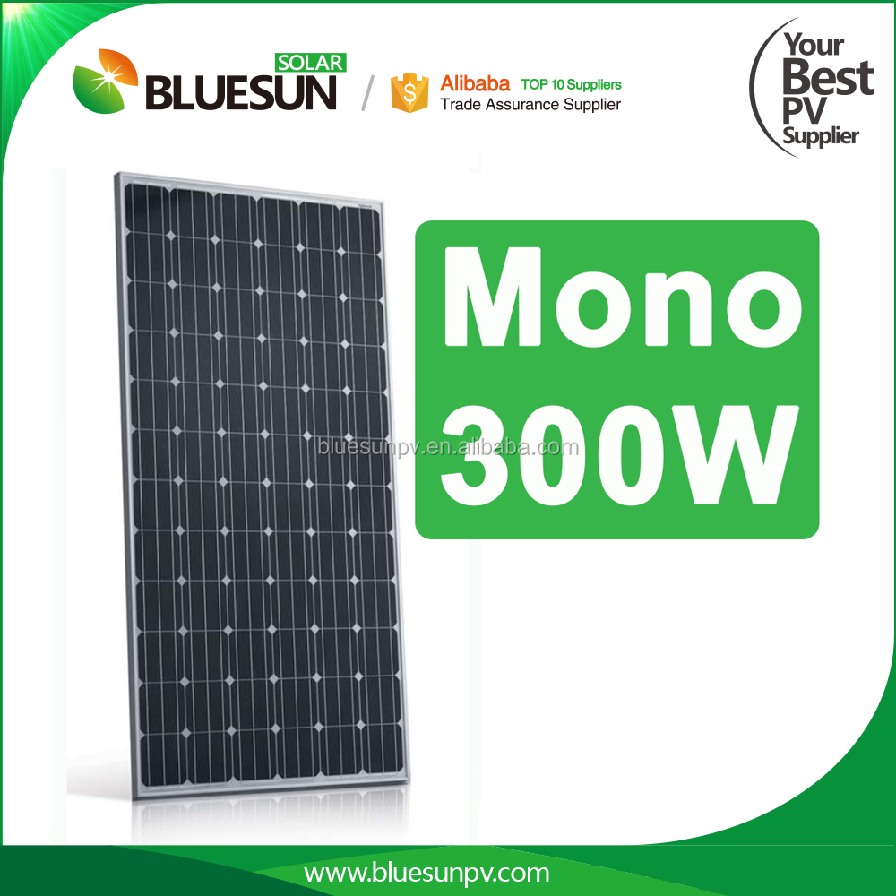 Bluesun best selling and most cheap solar cell panel 300w monocrystalline low cost in China