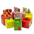 New Arrival High Quality Different Shape Cute Christmas Candy Package Paper Box Wholesale With Handle
