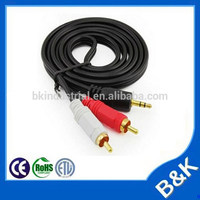 New York hot sale 2rca male to 3.5mm male cable manufacturering