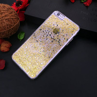 handwork bling glitter liquid tpu phone case for iphone 6