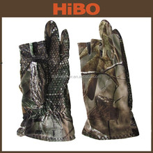 Camo Elastic fabric outdoor non-slip fishing hunting camo glove