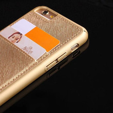 2016 Good Quality Credit Card Wallet Case, Card Holder Phone Case for iPhone 6s