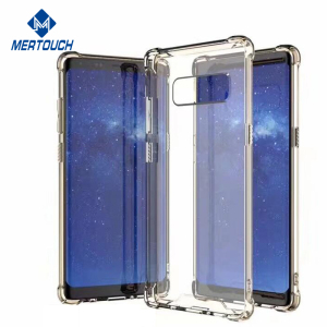 for Samsung galaxy note 8 acrylic clear phone case 1.55mm soft TPU bumper protective anti-knock cover cases