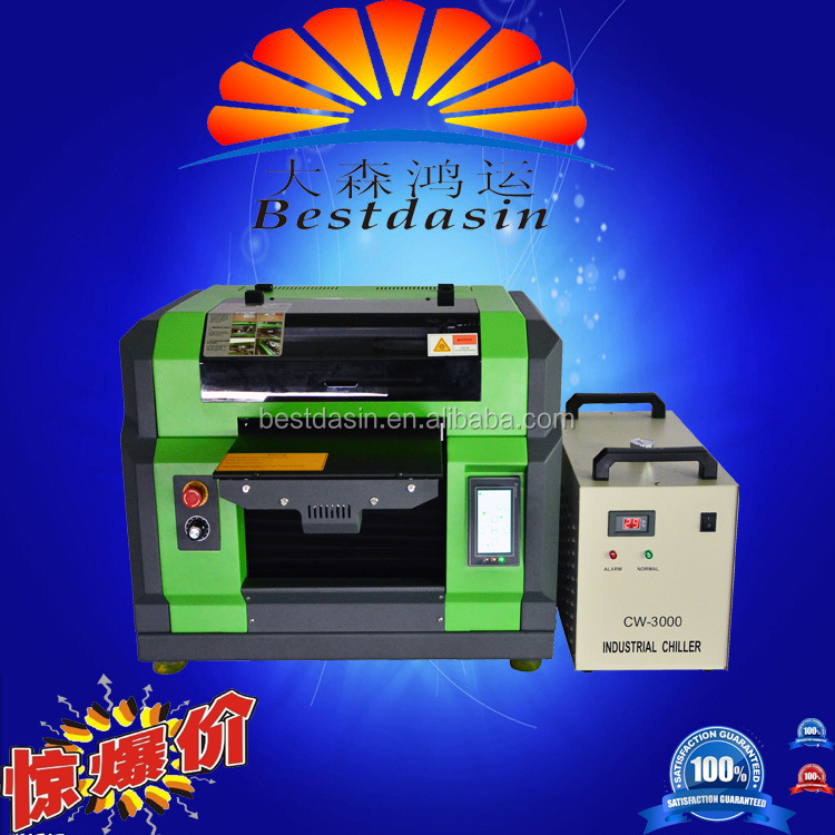 led uv printer A3 size DTG printer White Ink multicolor digital t shirt brand flatbed printing machine