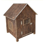 Cheap beautiful factory good quality wooden pet house for dogs
