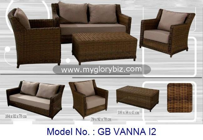 Synthetic Rattan Furniture For Garden Outdoor Modular Sofa Set, Rattan Sofa Set, Home Garden Outdoor Furniture