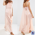 women clothing tie shoulder swing chiffon maxi dresses comfortable beach dress