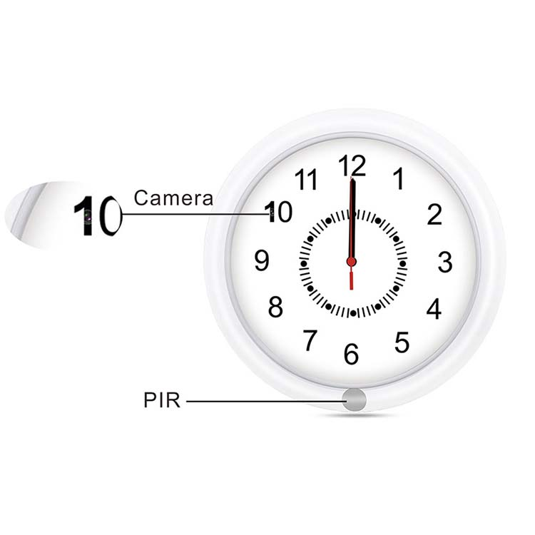 10Inch Perfect home office desk table alarm clock with hidden camera wifi wireless table clock hidden camera