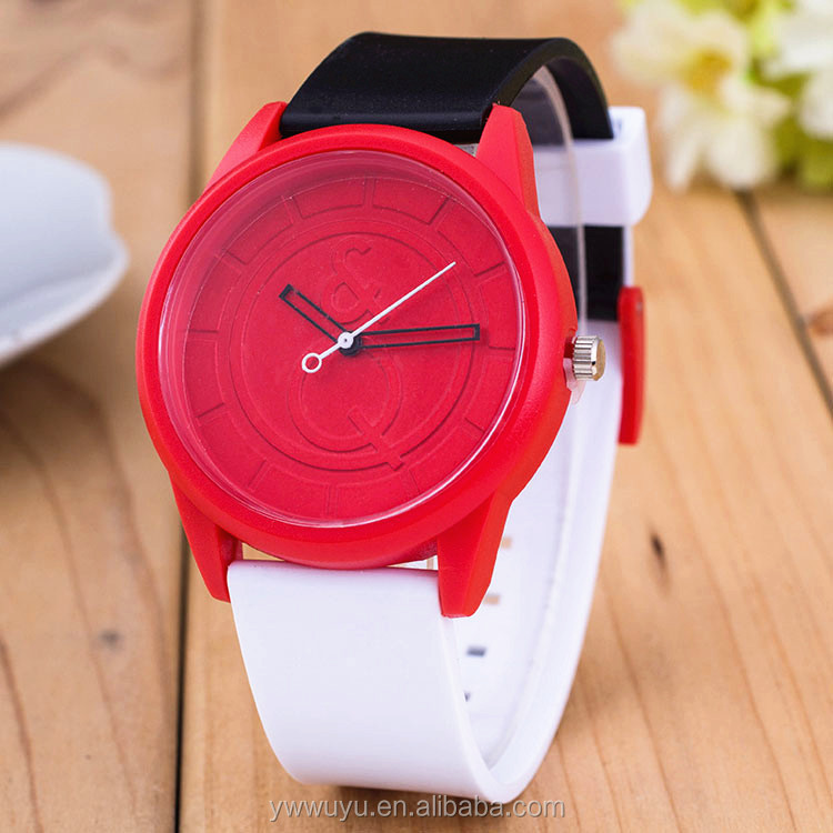 Blank Color Dial Unisex Analog Quartz Silicone Interchangeable Watch