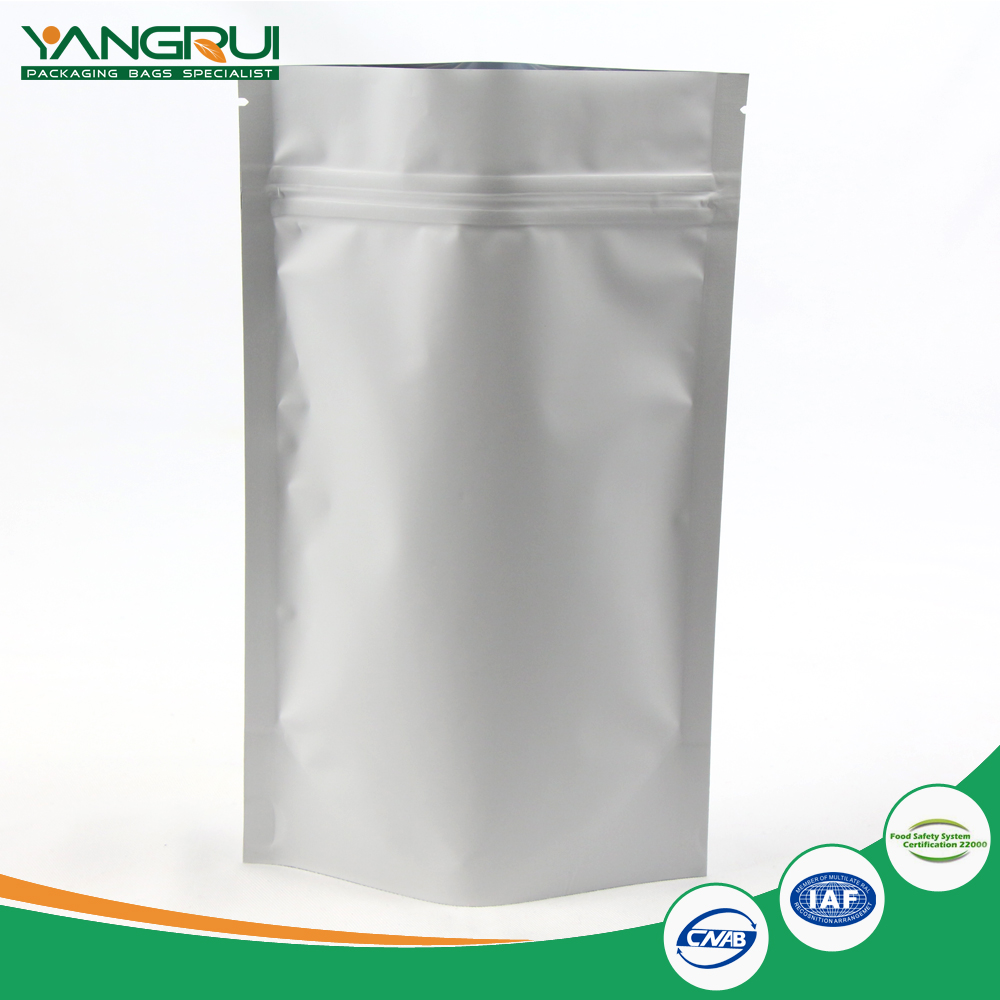 Aluminum foil metalized perforated packaging bag with zip lock