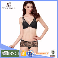 Low Price Fantastic Brassier Boyshort Lace Set Hot Girl Wearing Underwear And Bra