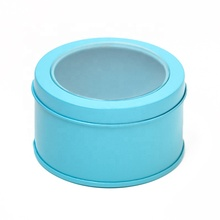 Party Favor Container small order multi-colored clear top tin box metal box tin box round with low moq
