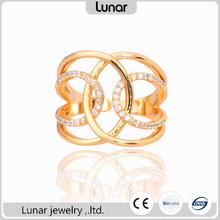 latest stylish design gold finger ring for women photo with price