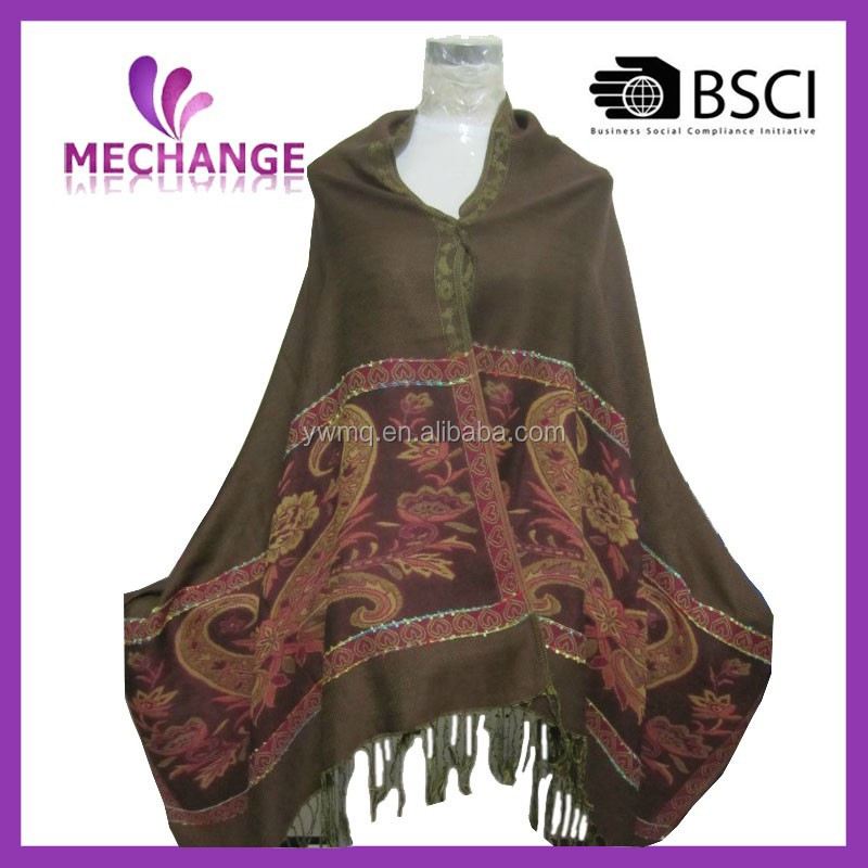 2015 Latest design hot sale fashion pashmina custom shawls