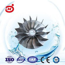 precision casting spare parts and CNC machined manganese steel pump impeller