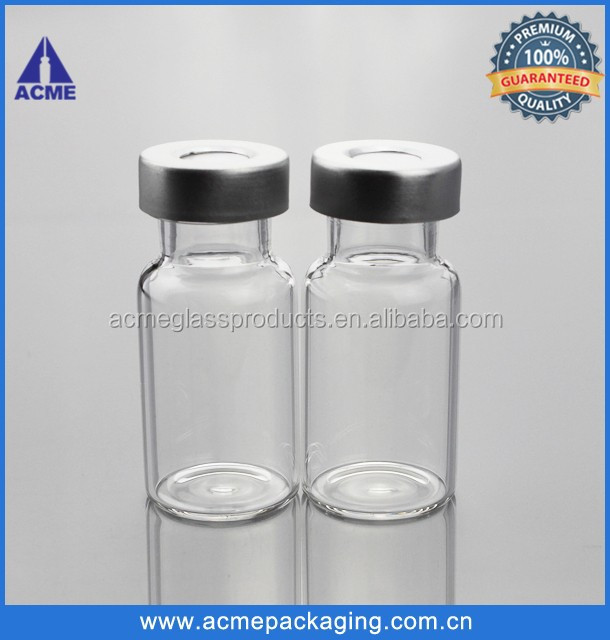 10ml clear glass crimp headspace vials with aluminum cap