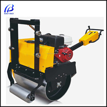 YL24 /24C new 9hp Handheld Hydraulic Dual Drums Petrol Engine Road Roller Super quality vibration single drum road roll