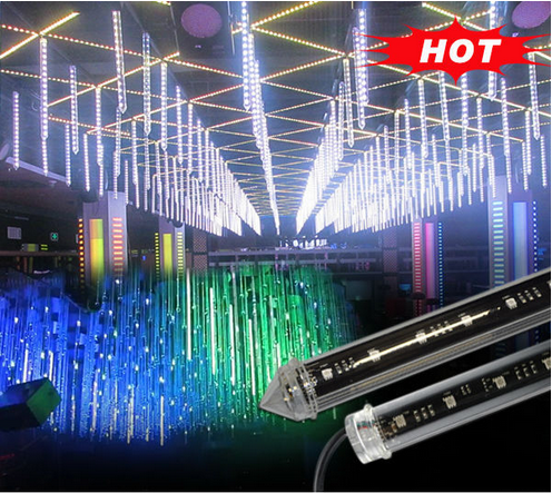 DMX led chasing falling tube dmx christmas decoration rainbow led light