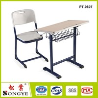 school table and chair set/ used student desks/student table chair set