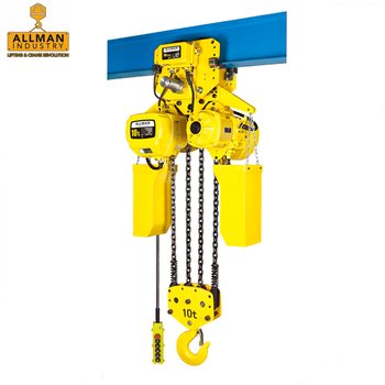 ALLMAN 3 Phase power source chain sling type electric motor lifting monorail hoist for warehouse material handling