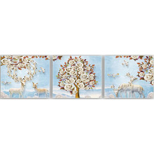 Orginal factory wholesale elk triptych diamond painting
