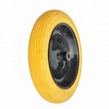 Polyurethane Airless Flat Free Tire For Wheel Barrow Garden Cart