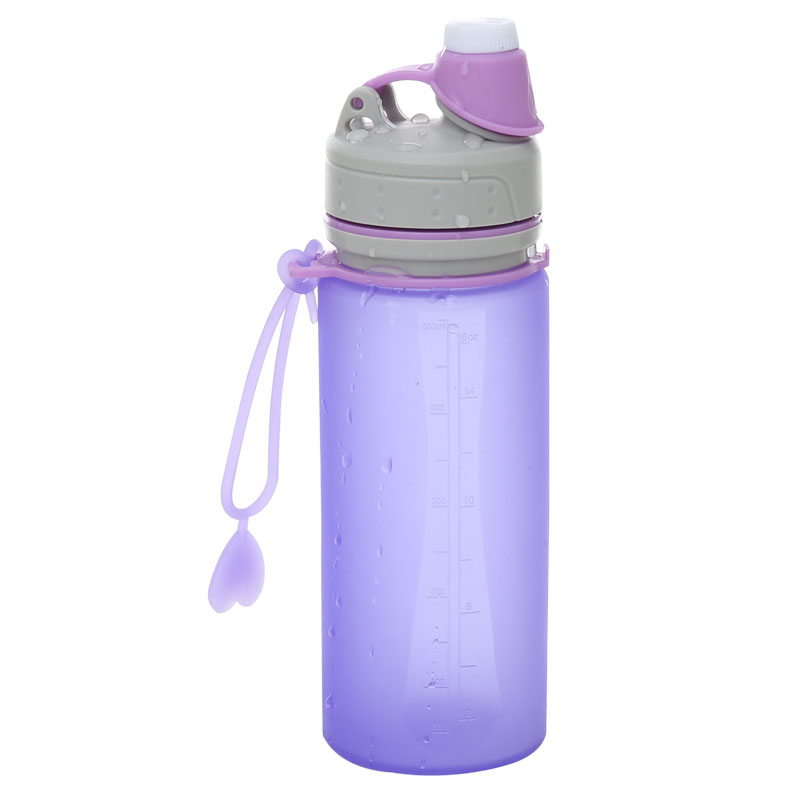 Everich 500ml BPA Free Collapsible Silicone Sports Water Bottle for Outdoor and Travel