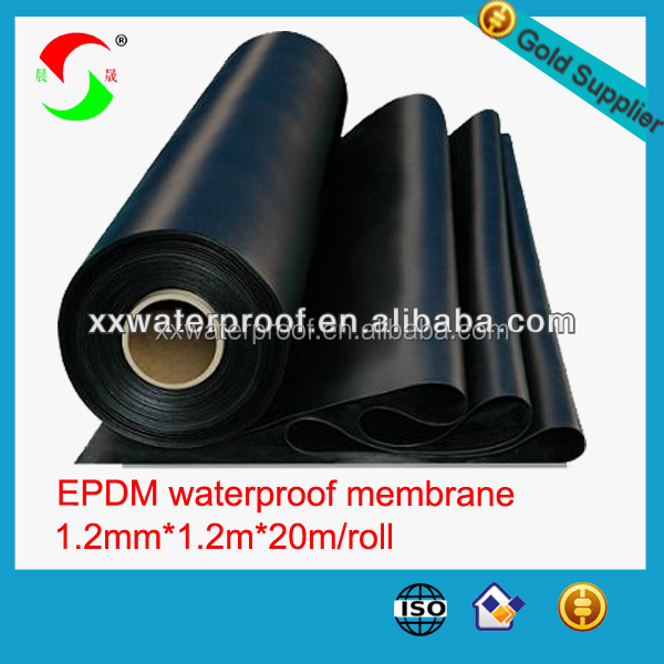 1.2mm1.5mm2mm white epdm rubber roofing membrane