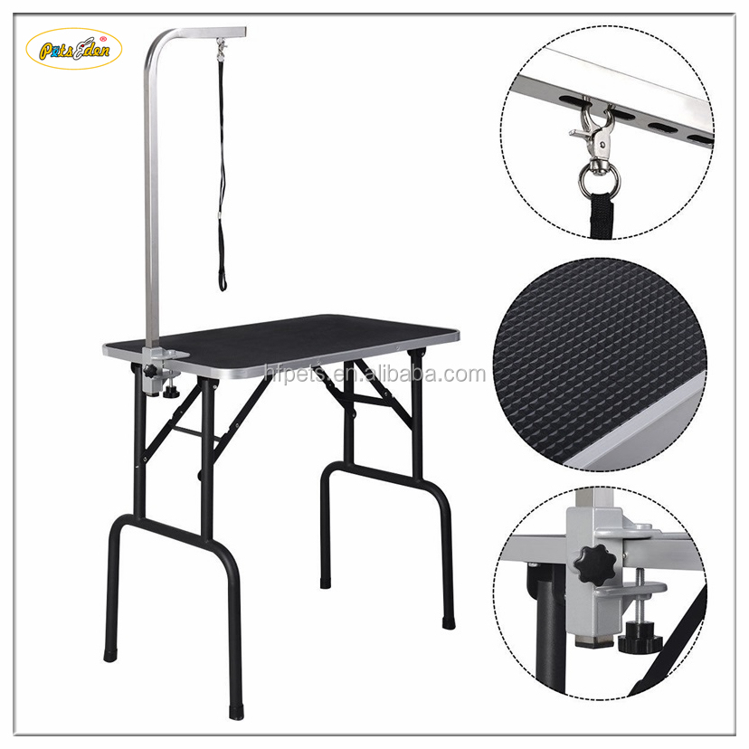 30'' Adjustable Black Pet Dog Grooming Table