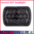 "Black cover 7"" led headlight with angel eye for jeep"