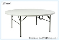 China suppliers Round Fold in half tables outdoor tabl folding table with full service