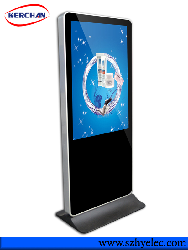 Indoor Standing 42 inch touch screen lg type mall advertising kiosk/flat screen tv wholesale