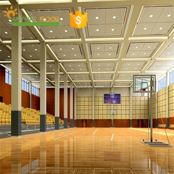 Crystal plan basketball court flooring cost with fiber Basketball court installation cost