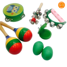 Kids Educational Early Musical Instruments Percussion Starter Kit 6-Player Band Set For Developing Musical Talents