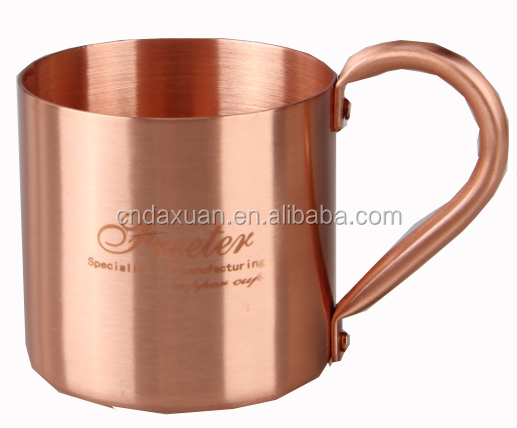 100% Pure Copper Moscow Mule Mug Solid Copper Cup