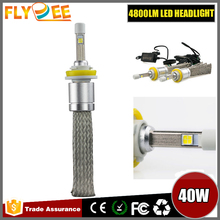 2016 Hot sale Car Accessories No Fan CREESS XHP-50 R3 LED Headlight 40W 4800LM 6000K H4 H11 9006 LED light lamp Bulb For Toyota