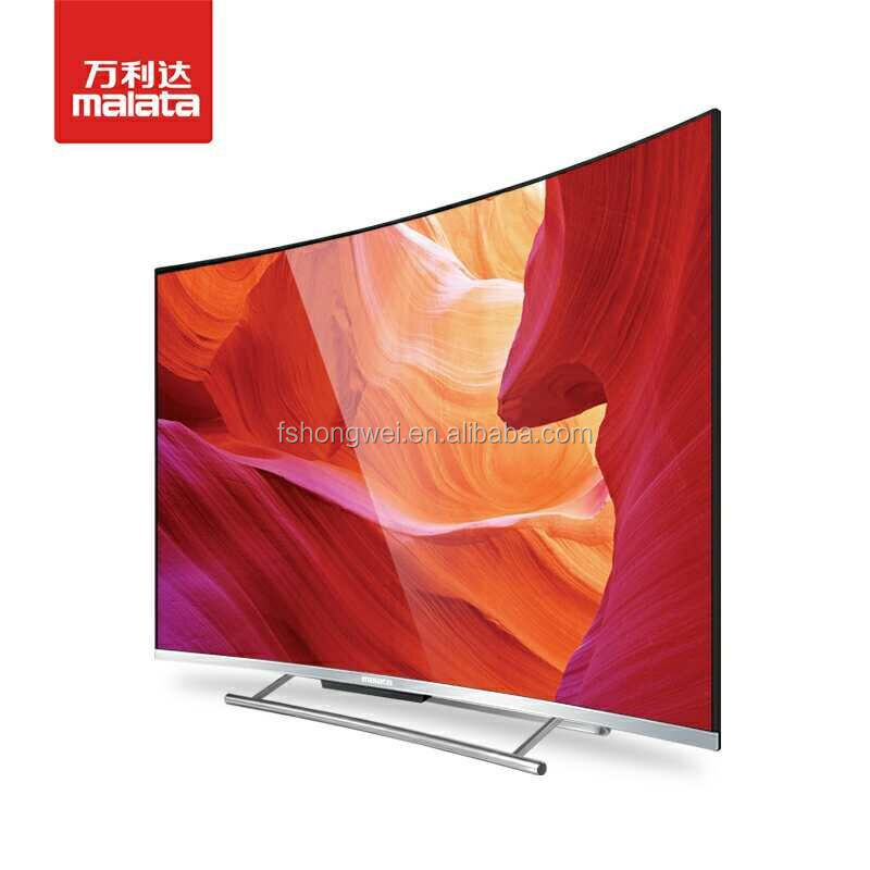 most popular and best selling 32-65 inch led curved with smart TV and metal frame