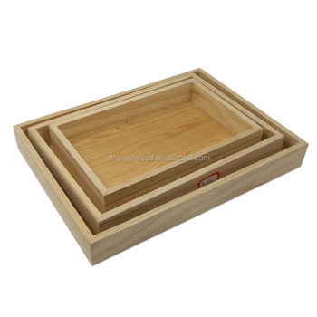 Trade assurance China manufacturer decorative handmade Wood Food Serving Tray with carrying handles