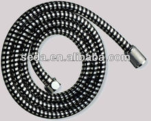 black silver plastic flexible shower hose