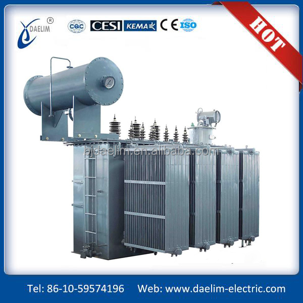 Oil immersed high current rectifier transformer for industrial